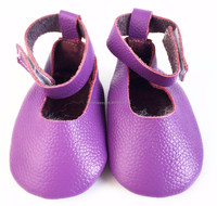 Wholesale lovely velcro kids Mary Jane Summer baby girl leather shoes