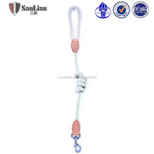 Heavy strength white round stand rope nylon dog leash