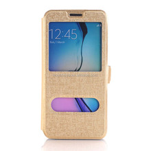 Window View PU Leather Folio Flip Case for Samsung Galaxy S7