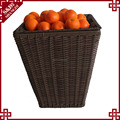 Wholesales handwoven PE plastic rattan supermarket shelf for fruit and vegetables storage