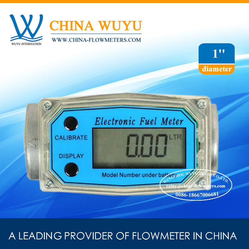 [ FREE SHIPPING ] Cheap Turbine Digital FLowmeter / Diesel Fuel FLow Meter China CE 1 inch