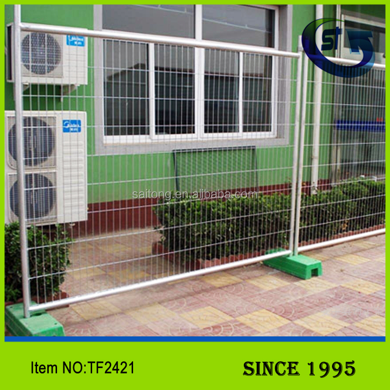 Decorative high security 2.4X2.1M TOP SELL Galvanized mesh steel wire temporary fence panel TF2421