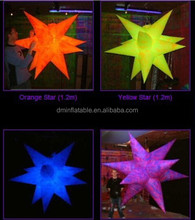 multi-colors LED inflatable illuminating stars for decoration