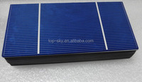 Customized size 156x78 MM 0.5V 2.1W PV cut/broken solar cells