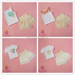 European Children Designs Clothing Lace Matching Baby Outfit