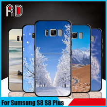 New design clear landscape style soft edge protective soft tpu phone case for samsung s8 s8plus