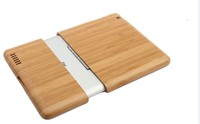 wood carring case for ipad air, top quality tablet back case cover for ipad new housing accessories