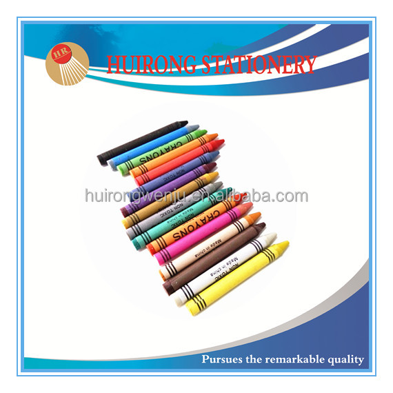 factory wholesale 16 color customized non toxic wax crayons