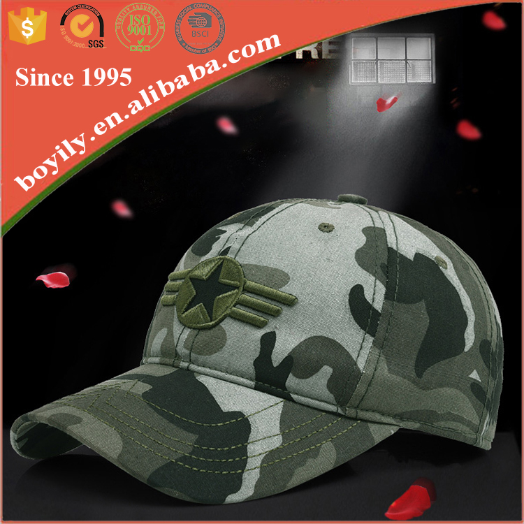 Embroidered patch camouflage hats printed army military baseball caps