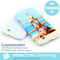 Wholesale Mobile Phone Accessory Custom 3D Printed Fancy Girl Gift i9500 Cell Phone Cover for Samsung Galaxy S4 Cases