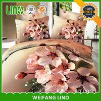 european bed linen/3d bed linen/yellow purple comforter