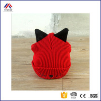 Winter Knitted Hat With Ear Muff Cute Beanie With cat Ears