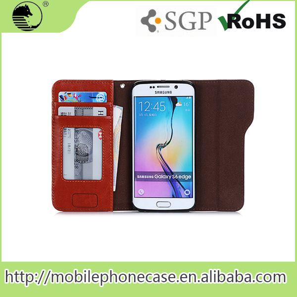 2016 New Hot Selling Multi Colors Newest Leather Flip Case For Samsung S6
