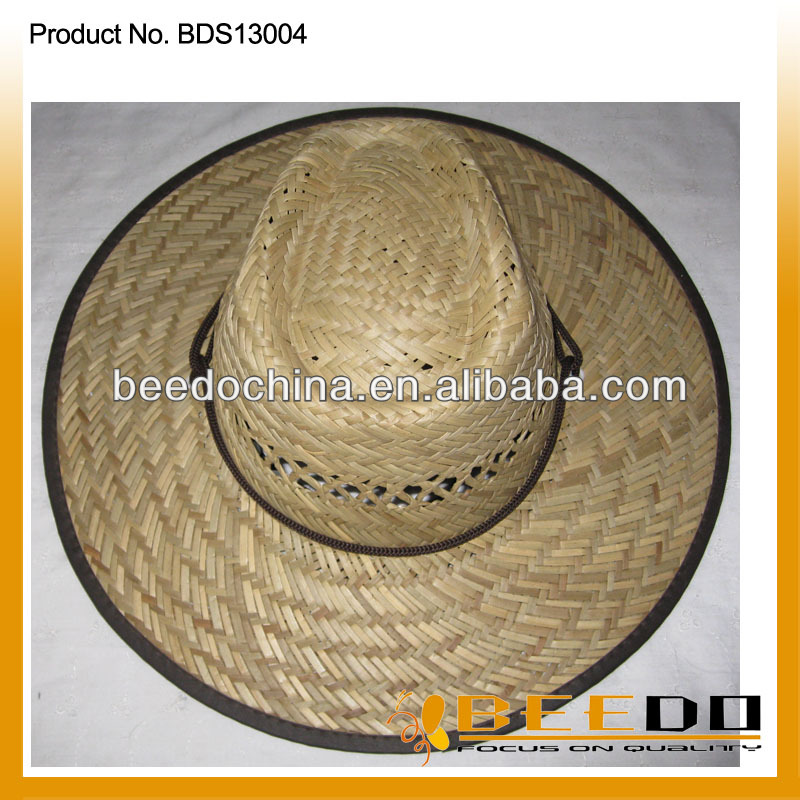 The newest fashion traditional straw boater campaign bulk straw cowboy hats cheap