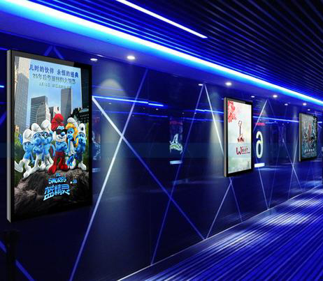 Custom made wall mounted full HD LCD screen digital signage with wifi/3G
