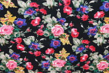 Multi color Floral Print fabric, beautiful new floral print