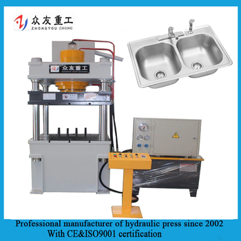 Steel kitchen Sinks hydraulic press machine Production line