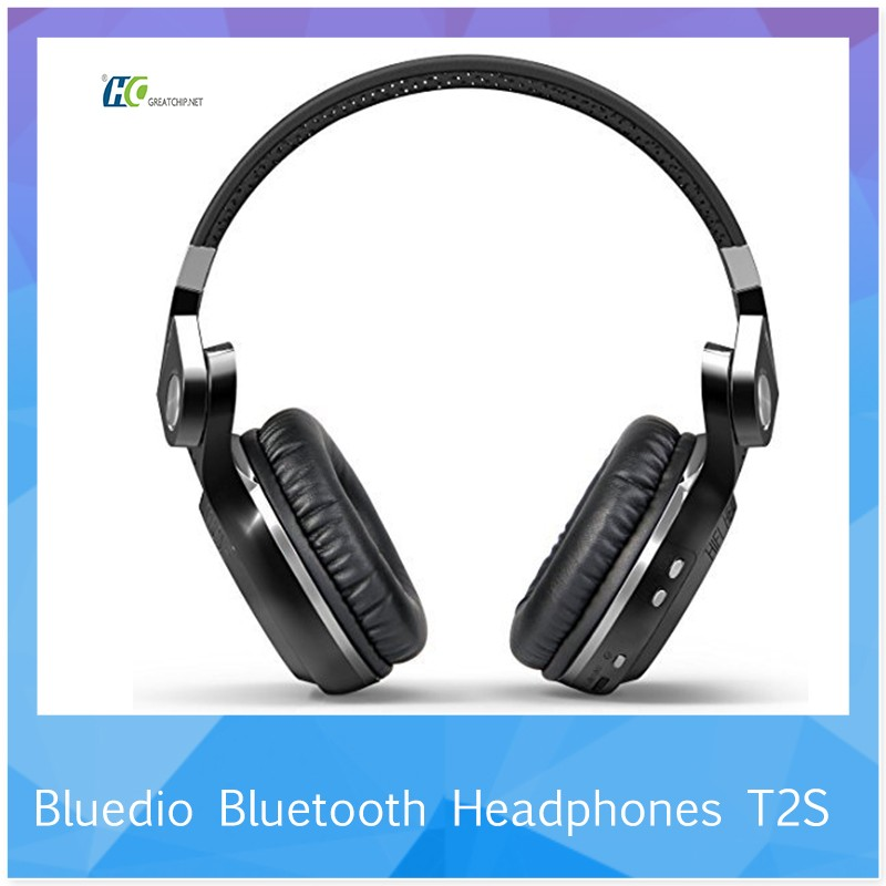 Bluetooth 4.1 Stereo HIFI Headband Earphone With Mic TF/FM Headphone Bluedio NEW Wireless Bluedio T2S Headset