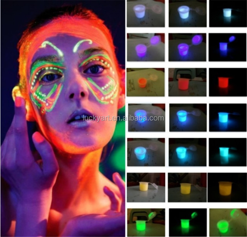10ml Imagic Neon Color Body Face Painting Colors Makeup UV Reactive Flash Tattoo Shining Run Glow In Dark Paint Fluorescent