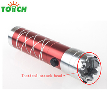 promotion 9 led mini torch attack head led flashlight with laser
