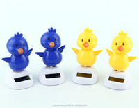 solar powered desk toy chick solar toys solar powered dancing chick, car decorative gift sun doll factory wholesale