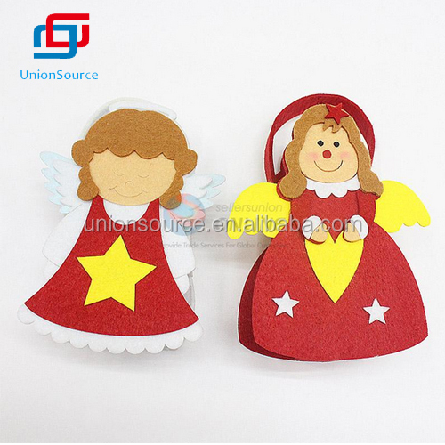Non-woven Fabrics Christmas Candy Basket, Two Angels