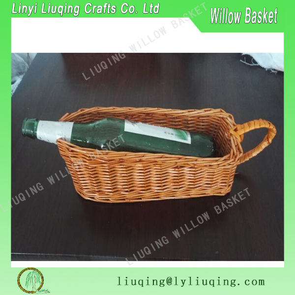Factory wholesale decorative cheap wicker wine basket/wicker wine bottle holder /wicker storage baskets