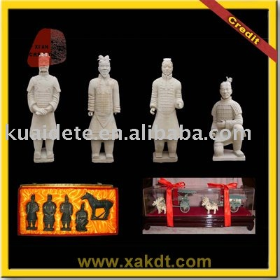 Chinese Clay Craft Small size Terracotta Warriors Replica for Gift BMY-1215