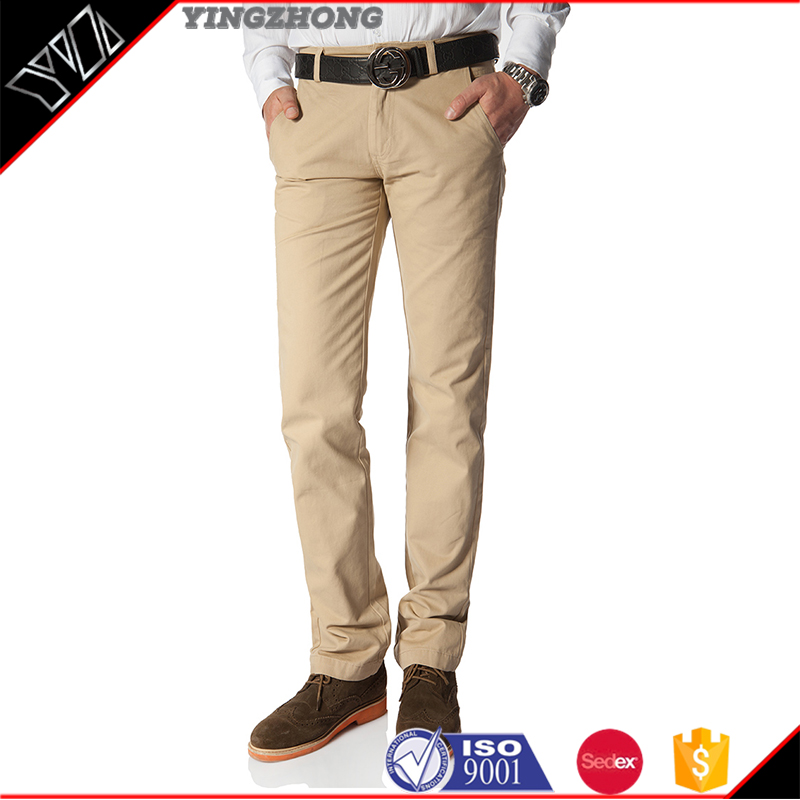 Yingzhong garment Wholesale Fashion Trousers Flat Front Slacks Dress Pants Men Formal Pants