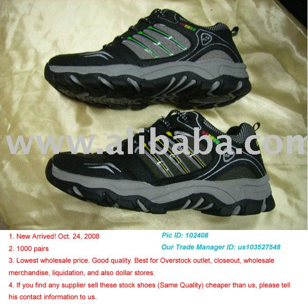 Looking for large Sports Shoes Stock buyers. Lowest wholesale price. Good quality. Best for Overstock outlet, closeout.