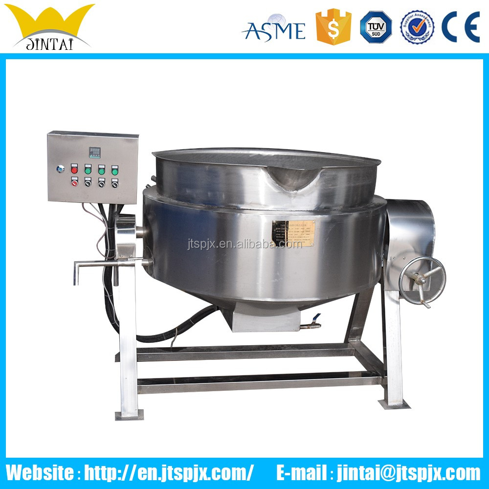 Full Automatic Industrial Jam Steam Cooking Pot With Planetary Mixer