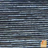 Black Thin Roofing Tile Paving Stone Natural Slate