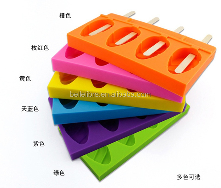 FDA food grade novelty Ice cream mould DIY ice lolly top fashion silicone Ice Cube Tray