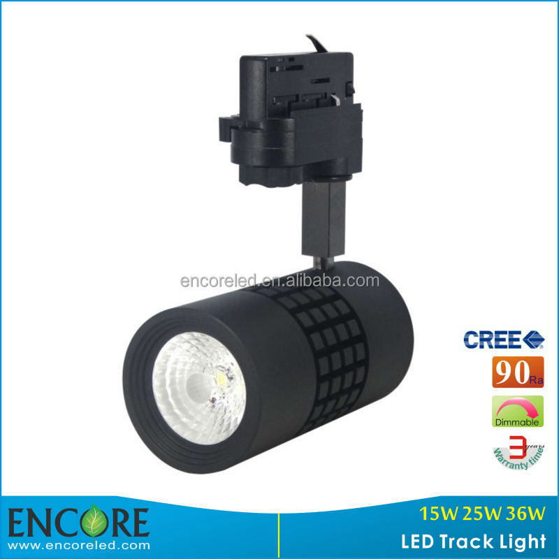 COB 3 Phase Dimmable 15W LED Light Track/ Focus Adjustable 15W LED COB Tracking Light with 3 Years Warranty