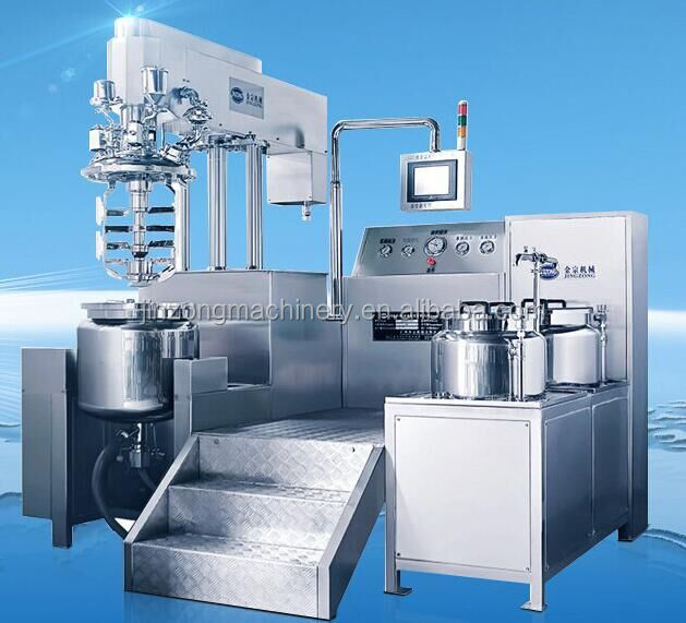 Jinzong Machinery Steam heating cosmetic cream dairy emulsifier homogenizer mixer