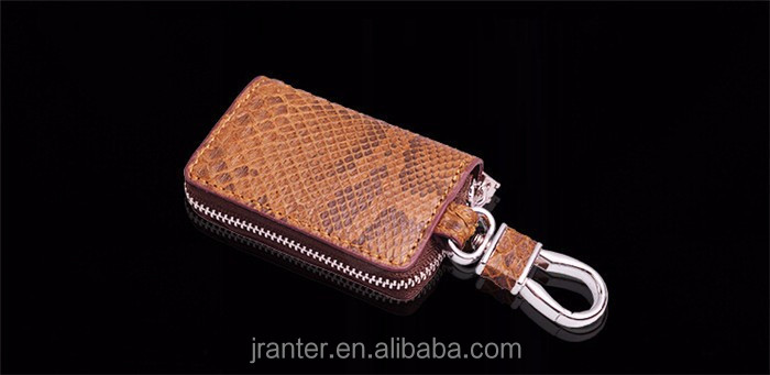 New arrival 100% python snakeskin car key case,key holder,leather car key wallet