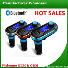 New Products 2016 Car Charger Mp3 Player ,Car Bluetooth Stereo Speaker Fm Radio Transmitter Receiver Car Kit Audio Wholesale