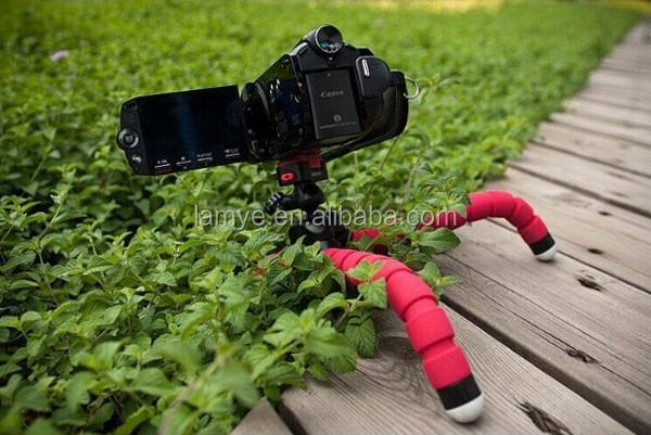 Digital Camera Mini Tripod Stand Flexible grip Octopus Bubble Pod Monopod Flexible Leg Small Camera Holder