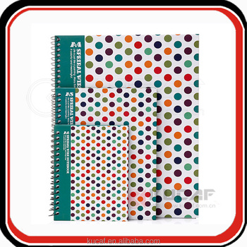 Custom dotted hardcover sprial music & drawing notebook