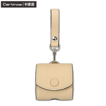 Durable Earphone Pouch Protective Carrying Case Genuine Leather Headset Bag