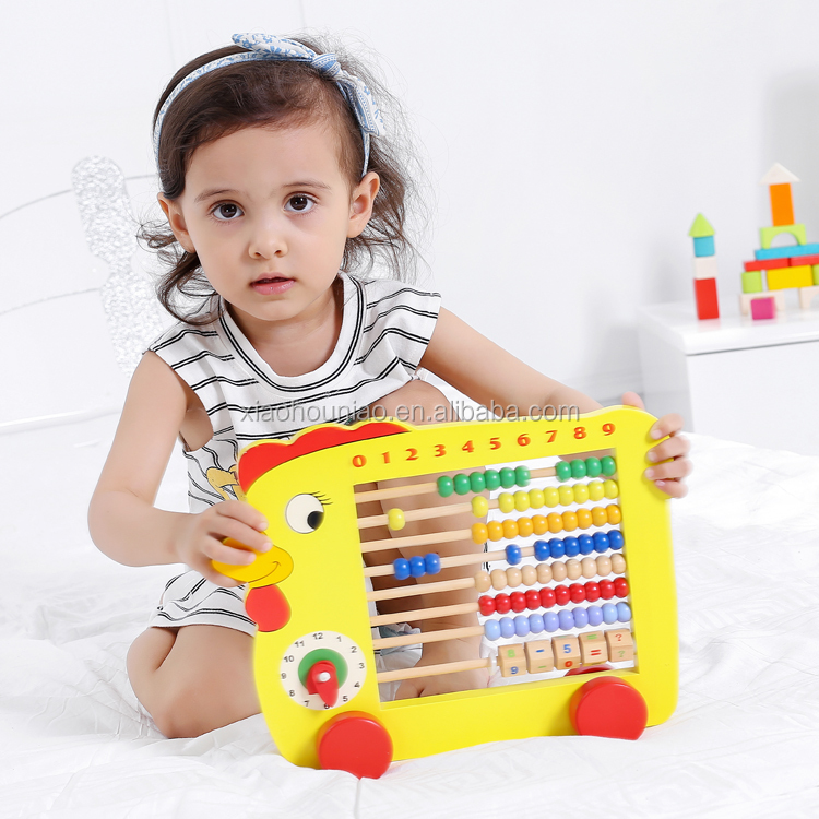 Chick Design Kids Counting Toys Educational Wooden Mathematics Learning Set Abacus for Children