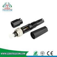 FC low price fiber optic connector fast assembly and no polish
