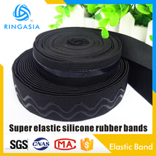 New eco-friendly functional 2cm2.5cm3cm wide anti-slip elastic straps non slip straps elastic band Super elastic silicone rubber