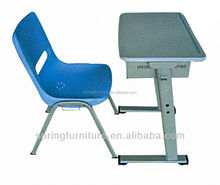 school furniture attached school desk and chair school single desk and chairs CT-331