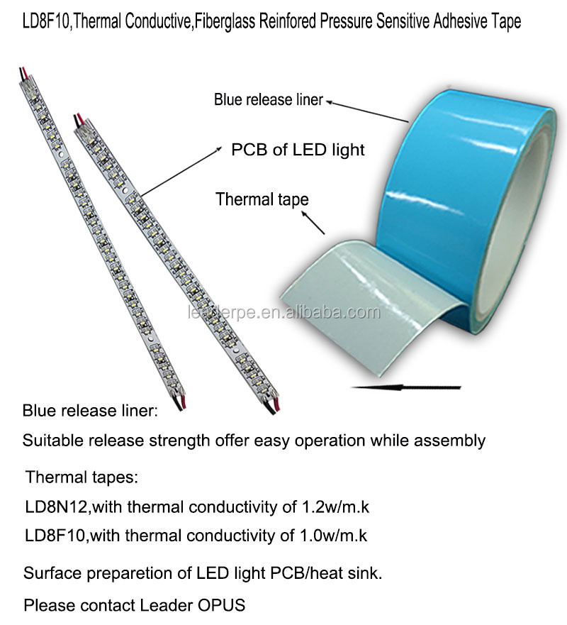 Acceptable Thermal Resistance Double Sided Thermal Tapes for LED Light
