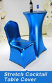 Royal blue chair covers wedding decoration