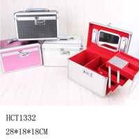 aluminum train mirror cosmetic case professional beauty box makeup vanity case