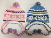 2014 Fashion jacquard hat with earflaps
