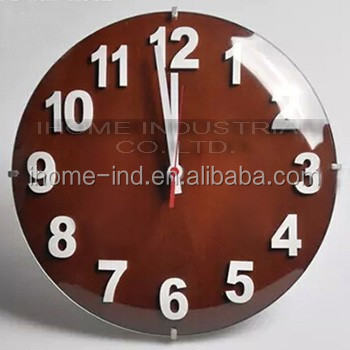 glass wall clocks/glass globe clock