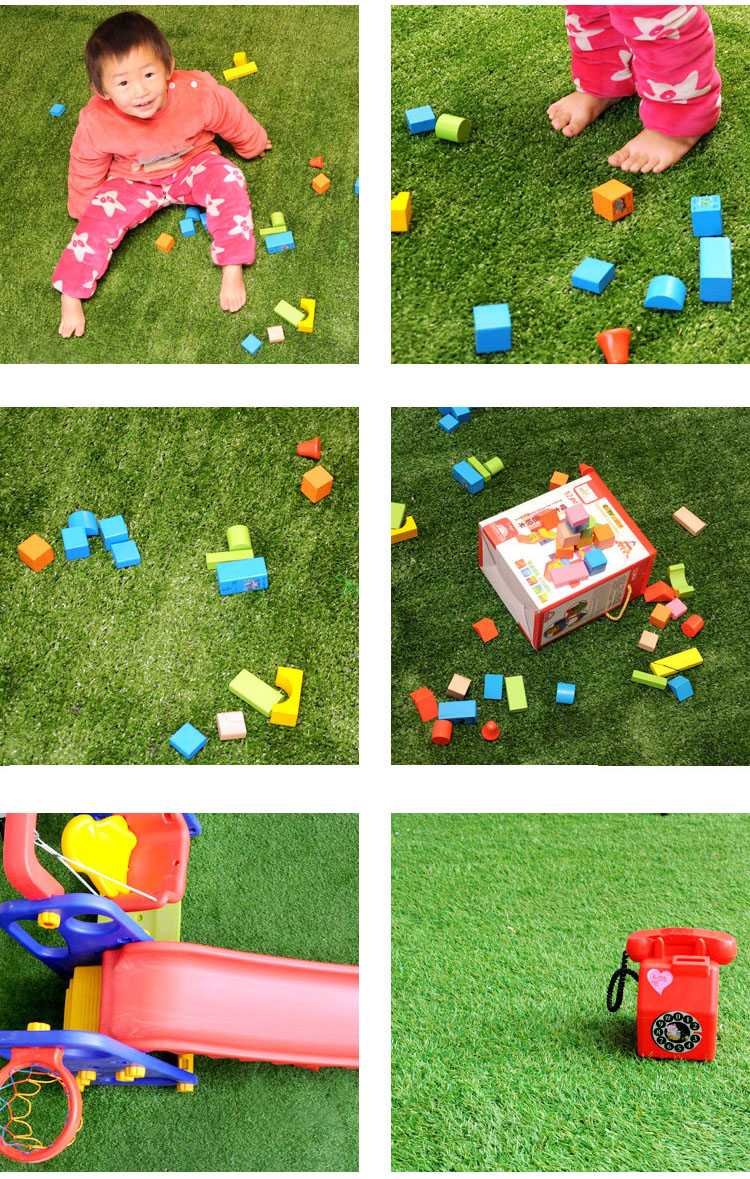 Wholesale Cheap Waterproof Fire prevention artificial landscaping lawn/synthetic grass